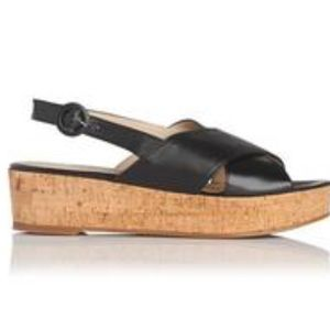 L. K. Bennett - Klara Black Sandals US 4.5